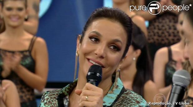Ivete Sangalo paricipa do 'Domingão do Faustão' e elogia o marido, o nutricionista Daniel Cady. O programa foi exibido em 1º de dezembro de 2013