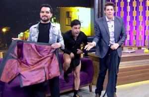 Zezé Di Camargo tira calça em programa na TV e Luciano dispara: 'Você tá doido?'