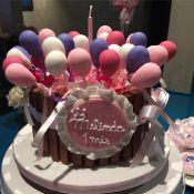 Michel Teló e Thais Fersoza fazem festa de 1 mês para filha, Melinda: 'Bolinho'