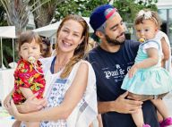 Luana Piovani posa com Pedro Scooby e filhos gêmeos em meio a crise no casamento