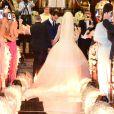 Ex-BBBs Kamilla Salgado e EliéserAmbrósiose casaram neste domingo, 4 de setembro de 2016, na Capela da PUC, Zona Oeste de São Paulo