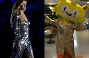 Gisele Bündchen é imitada por mascote na abertura da Paralimpíada e agita web