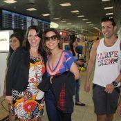 Wanessa Camargo se diverte rodeada de fãs em aeroporto no Rio de Janeiro. Fotos!