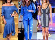 Veja 30 looks de famosas que adotam a tendência total jeans e inspire-se. Fotos!