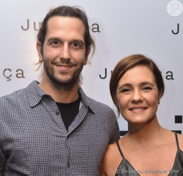 Vladimir Brichta gosta de trabalhar com a mulher, Adriana Esteves, sua parceria de elenco na minissérie 'Justiça'