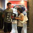 Lívian Aragão e o namorado, Nicolas Prattes, foram ao cinema nesta quarta-feira, 11 de dezembro de 2013, no shopping Rio Design Barra, na Barra da Tijuca Zona Oeste do Rio de Janeiro