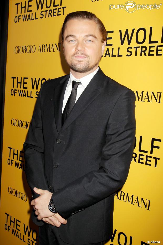 Leonardo DiCaprio prestigia première de seu novo filme, 'O Lobo de Wall Street', em 17 de dezembro de 2013