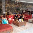 Xuxa com Nivea Stelmann, Zezé di Camargo e Luciano nos bastidores do 'TV Xuxa de Verão', em Angra dos Reis