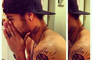 Neymar faz tatuagem igual a da irmã: 'Minha casa', diz Rafaella Santos