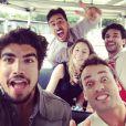 Rodrigo Andrade costuma se divertir bastante nos bastidores com os colegas de elenco. E, muitas vezes, posta fotos da bagunça no Instagram