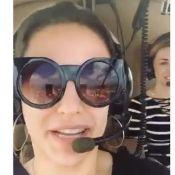 Kéfera anda de helicóptero e brinca com piloto: 'Fala para ninguém me incomodar'