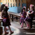 Frida (Sienna Belle) e Bárbara (Renata Randel) contam a Dulce Maria (Lorena Queiroz) que Gustavo (Carlo Porto) vai se casar com Nicole ( Dani Gondim ) e a menina fica triste, no capítulo que vai ao ar quarta-feira, dia 14 de dezembro de 2016,  na novela 'Carinha de Anjo'