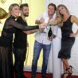 Giovanna Ewbank prestigiou o evento da Intissimi ao lado do marido, Bruno Gagliasso, e de Grazi Massafera