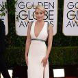 Margot Robbieusou um vestido da grife Gucci no Globo de Ouro 2014