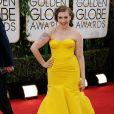 Lena Dunhamusou um vestido da grife Zac Posen no Globo de Ouro 2014