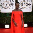 Lupita Nyong'ousou um vestido da grife Ralph Lauren no Globo de Ouro 2014