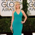 Reese Witherspoonusou um vestido da grife Calvin Klein no Globo de Ouro 2014