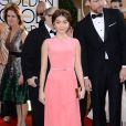 Sarah Hylandusou um vestido da grife George Hobeika no Globo de Ouro 2014