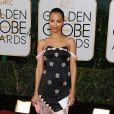 Zoe Saldanausou um vestido da grife Prabal Gurung no Globo de Ouro 2014