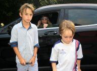 Danielle Winits leva Noah e Guy ao aniversário das filhas de Glória Maria. Fotos