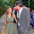 Maitê Proença prestigiou neste sábado, 10 de dezembro de 2016, o casamento do artista plástico Vik Muniz