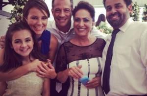 'Amor à Vida': veja fotos do elenco nos bastidores do casamento de Gina e Elias