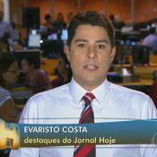 Evaristo Costa perde o fôlego ao apresentar notícias ao vivo: 'Eu vim correndo'