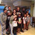 Anderson Silva recebeu visita de Seu Jorge e Marisa Monte