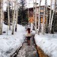 Marina Ruy Barbosa e Klebber Toledo estão curtindo férias em Park City, Utah, nos Estados Unidos