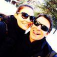 Murilo Rosa e Fernanda Tavares na estação de esqui