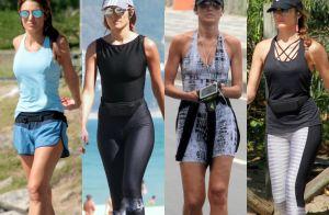 Moda fitness: Patricia Poeta investe em looks estilosos ao se exercitar. Fotos!