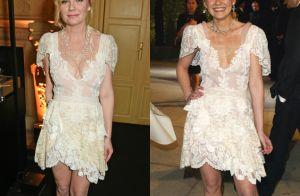 Kirsten Dunst repete vestido 13 anos depois; look foi usado no Oscar em 2004