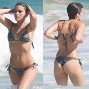 Isabella Santoni curte praia com amigos e exibe corpo em forma de biquíni. Fotos