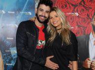 Gusttavo Lima posa acariciando a barriga de Andressa Suita, grávida de 4 meses