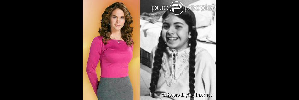 Lucero Hogaza viveu a orfã Chispita, exibida no SBT em 1984. Hoje, a atriz tem 44 anos e é uma celebridade no México