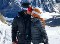 Foto: Marina Ruy Barbosa dá beijo em Xandinho Negrão durante viagem à Suíça