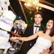 Veja fotos do casamento de Carol Castro e Raphael Sander na casa da atriz, no RJ