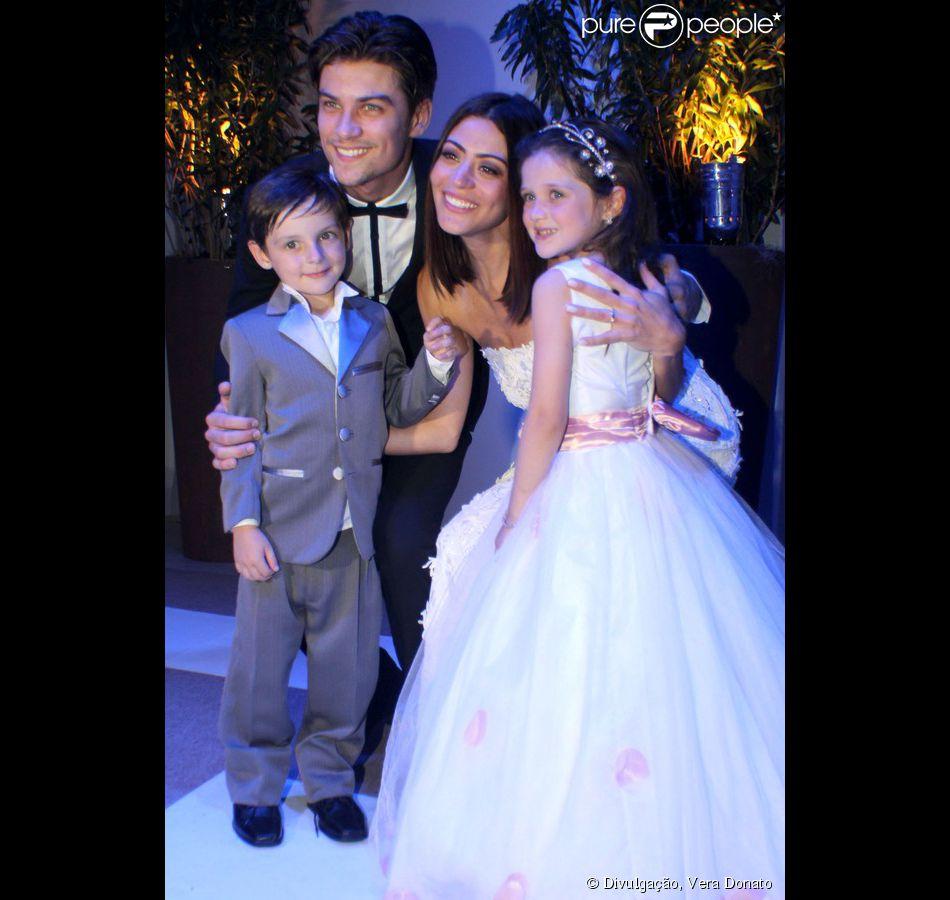 Casamento Carol Castro e Raphael Sander: os pajens foram os sobrinhos da atriz, Luisa e Rafael