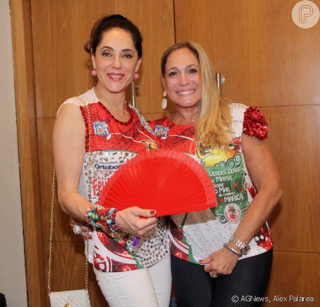 Susana Vieira e Christiane Torloni agitaram em evento da Grande Rio, neste domingo 23 de fevereiro de 2014
