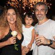 Daniela Mercury e Marco Scabia com a filha Ana Isabel comemoram o Réveillon de 2012; cantora e empresário anunciaram separação nesta terça-feira, 15 de janeiro de 2013