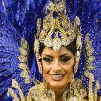 Aline Riscado, dançarina do 'Domingão do Faustão', reinou à frente da bateria da Caprichosos de Pilares na noite deste sábado, 1 de março de 2014