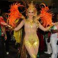 Monique Alfradique desfila como musa da Grande Rio neste domingo, 2 de março de 2014