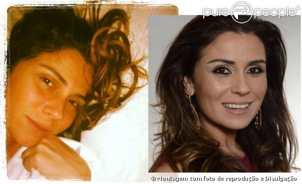 Giovanna Antonelli postou uma foto sem maquiagem, deitada na cama, em casa, nesta terça-feira, 15 de janeiro de 2013