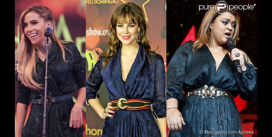 Vestido repetido por Anitta e Paolla Oliveira foi usado por Preta Gil no ano passado (18 de março de 2014)