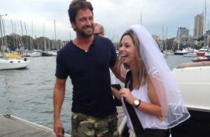 Gerard Butler surpreende noiva ao aparecer em despedida de solteira