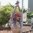 Pabllo Vittar foi destaque na Parada LGBT, em São Paulo
