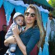 Rafa Brites levou o filho, Rocco, ao aniversário da filha de Bruno Gagliasso Giovanna Ewbank