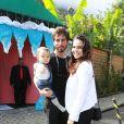 Tainá Müller e o marido, Henrique Sauer, levaram o filho, Martin, no aniversário de Títi, filha de Bruno Gagliasso e Giovanna Ewbank