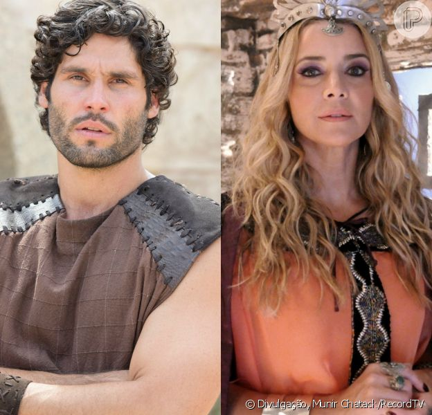 Asher (Dudu Azevedo) confronta Sammu-Ramat (Christine Fernandes), nos próximos capítulos da novela 'O Rico e Lázaro': 'Nebuzaradã (Angelo Paes Leme) é seu amante'
