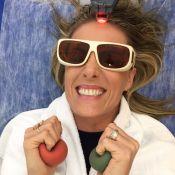 Ana Hickmann recebe injeções para recuperar volume no cabelo:'Dermatite nervosa'